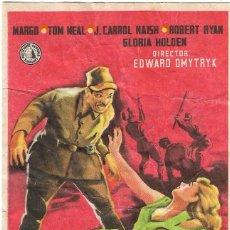 Cine: PROGRAMA DE CINE - TRAS EL SOL NACIENTE - MARGO, TOM NEAL - TEATRO CERVANTES (MÁLAGA)- 1943.. Lote 194718700