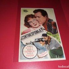 Cine: CONTRAESPIONAJE. PUBLICIDAD AL DORSO. AÑO 1950. Lote 194720165