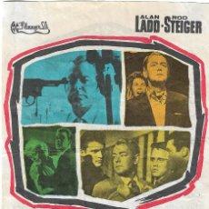 Cine: PROGRAMA DE CINE - 13 CALLE OESTE - ALAN LADD, ROD STEIGER - CINE ECHEGARAY (MÁLAGA) - 1962.. Lote 194720508