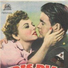 Cine: PROGRAMA DE CINE - TRES DÍAS DE AMOR Y DE FÉ - KATHERINE HEPBURN - CINE ECHEGARAY (MÁLAGA) - 1943.. Lote 194724457
