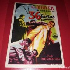 Cine: 36 HORAS CULPABLE. PUBLICIDAD AL DORSO. AÑO 1953.. Lote 194730665