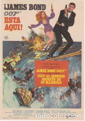 007 AL SERVICIO SECRETO DE SU MAJESTAD (Cine - Folletos de Mano - Suspense)