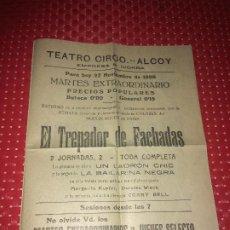 Cine: EL TREPADOR DE FACHADAS - DOROTEA WIECK - CORRY BELL - AÑO 1928 - TEATRO CIRCO - ALCOY. Lote 194735085