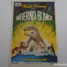 Cine: SANTANDER. CINE ROXY. INVIERNO BLANCO, WALT DISNEY. 1967. Lote 194744456