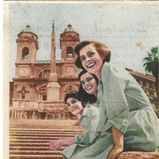 Cine: PROGRAMA DE CINE - TRES ENAMORADAS - LUCIA BOSÉ, COSETTA GRECO - PRINCIPAL CINEMA (MÁLAGA) - 1952.. Lote 194863855