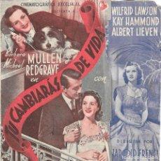 Cine: PROGRAMA DOBLE - TÚ CAMBIARÁS DE VIDA - BARBARA MULLEN, MICHAEL REDGRAVE - CINE GOYA (MÁLAGA) - 1941. Lote 194871180