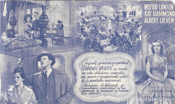 Cine: PROGRAMA DOBLE - TÚ CAMBIARÁS DE VIDA - BARBARA MULLEN, MICHAEL REDGRAVE - CINE GOYA (Málaga) - 1941 - Foto 3 - 194871180