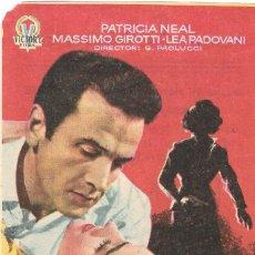 Cine: PROGRAMA DE CINE - TU MUJER - PATRICIA NEAL, MASSIMO GIROTTI - CINE ECHEGARAY (MÁLAGA) - 1954.. Lote 194871691