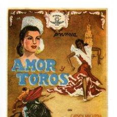 Cine: AMOR Y TOROS, CON ANTONIO RIQUELME.. Lote 194880202