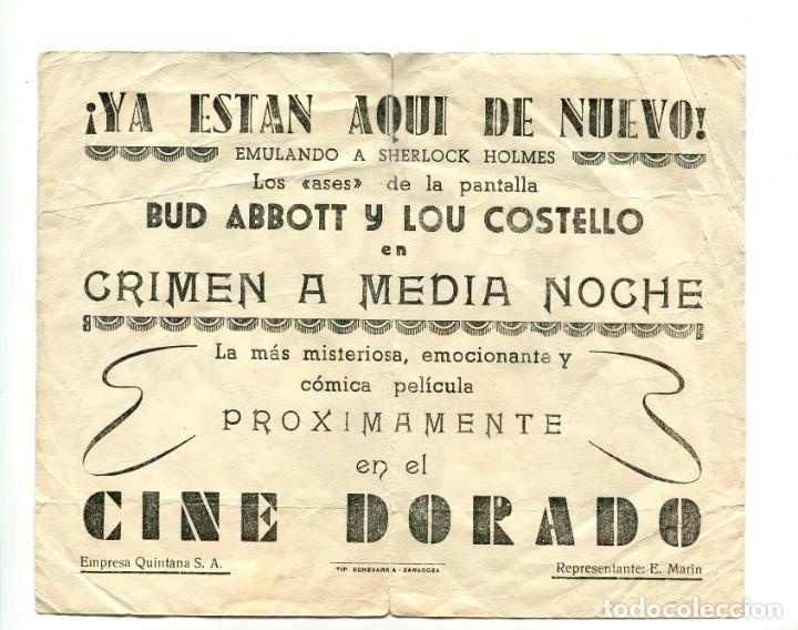 Cine: CRIMEN A MEDIANOCHE, CON BUD ABBOTT Y LOU COSTELLO. - Foto 2 - 194883881