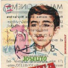 Cine: PROGRAMA DE CINE - SAETA DEL RUISEÑOR - JOSELITO - MÁLAGA CINEMA - 1959.. Lote 194888347