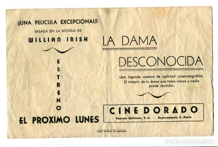 Cine: LA DAMA DESCONOCIDA, CON FRANCHOT TONE. - Foto 2 - 194895241