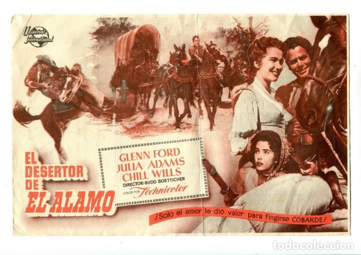 EL DESERTOR DE EL ÁLAMO, CON GLENN FORD. (Cine - Folletos de Mano - Westerns)
