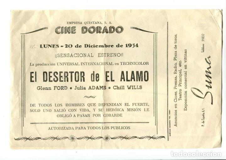 Cine: EL DESERTOR DE EL ÁLAMO, CON GLENN FORD. - Foto 2 - 194896451