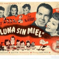 Cine: LUNA SIN MIEL, CON CLAUDETTE COLBERT.. Lote 194896906