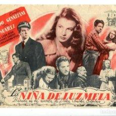 Cine: LA NIÑA DE LUZMELA, CON JOSÉ SUÁREZ.. Lote 194898601