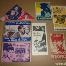 Cine: MAGNIFICOS 7 PROGRAMAS DE CINE,SALIDA 1 EURO. Lote 194901017