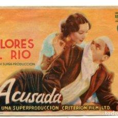Cine: ACUSADA, CON DOLORES DEL RÍO.. Lote 194901857