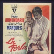 Cine: P-4534- LA PERLA (PEDRO ARMENDÁRIZ - MARÍA ELENA MARQUÉS - FERNANDO WAGNER - GILBERTO GONZÁLEZ). Lote 194944738