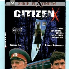 Cine: DVD CITIZEN X - STEPHEN REA - DONALD SUTHERLAND - SITGES - AURUM - PLATINUM. Lote 194952906