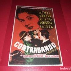 Cine: CONTRABANDO. PUBLICIDAD AL DORSO. AÑO 1955. Lote 194971157