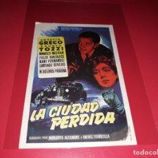 Cine: LA CIUDAD PERDIDA. PUBLICIDAD AL DORSO. AÑO 1955. Lote 194971687