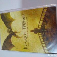 Cine: JUEGO DE TRONOS QUINTA TEMPORADA 5 COMPLETA - 5 X DVD ESPAÑOL ENGLISH. Lote 194975513