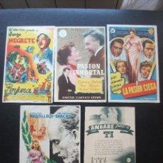 Cine: JAEN, 5 FOLLETOS DE CINES DE ESTA CIUDAD. Lote 194982906