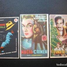 Cine: MEQUINENZA, 3 FOLLETOS DE CINE DE ESTA CIUDAD. Lote 194983026