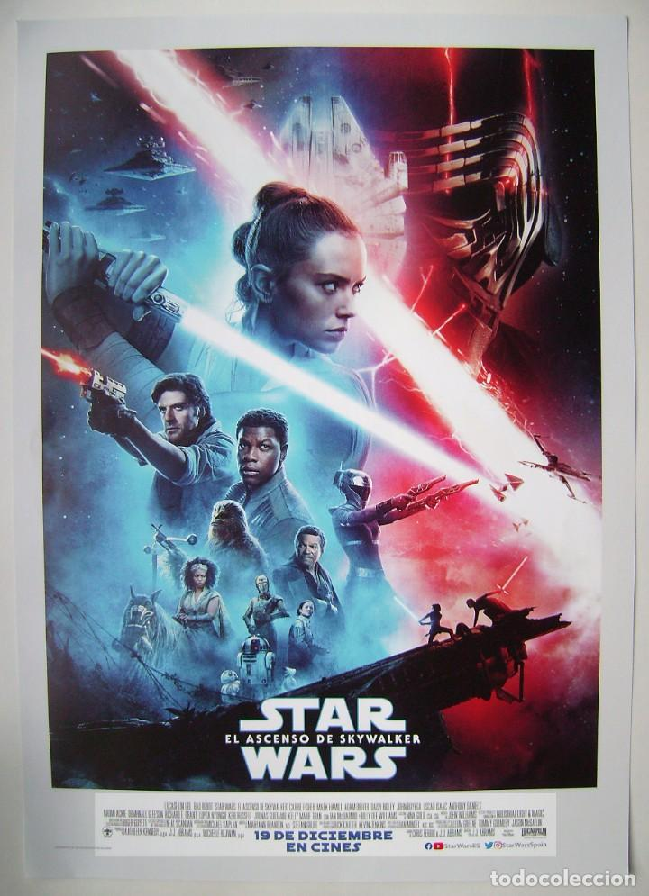 Cine: STAR WARS. EL ASCENSO DE SKYWALKER, con Daisy Ridley. MINI-POSTER ORIGINAL 29,5 X 42 cms. - Foto 1 - 195042885