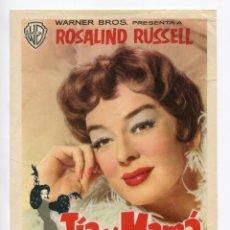 Cine: TÍA Y MAMÁ, CON ROSALIND RUSSELL. TAMAÑO 17 X 23 CMS... Lote 195045858