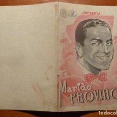 Cine: MARIDO PROVISIONAL FOLLETO DE MANO ORIGINAL ESTRENO . Lote 195051495