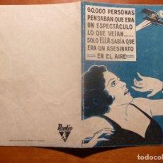 Cine: AGUILAS RIVALES FOLLETO DE MANO ORIGINAL ESTRENO. Lote 195051675