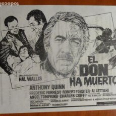Cine: EL DON HA MUERTO ANTHONY QUINN FOLLETO DE MANO LOCAL ORIGINAL ESTRENO PERFECTO ESTADO. Lote 195051717