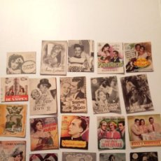 Cine: LOTE DE 36 PROGRAMAS ORIGINALES(TROQUELADOS Y DÍPTICOS). Lote 195058770