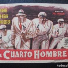 Cine: EL CUARTO HOMBRE, JOHN PAYNE, CINEMA ROYAL DE PINEDA, 1955. Lote 195130685
