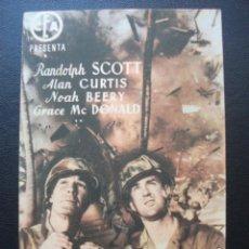 Cine: TODOS A UNA!, RANDOLPH SCOTT, CINES DE VALENCIA, 1948. Lote 195130927