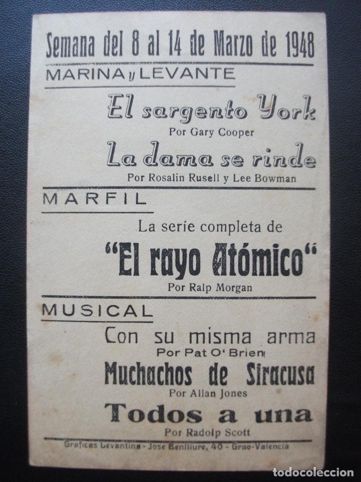 Cine: TODOS A UNA!, RANDOLPH SCOTT, CINES DE VALENCIA, 1948 - Foto 2 - 195130927