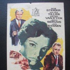 Cine: ATRACO AUDAZ, ROD STEIGER, TEATRO PRINCIPAL DE MAHÓN, 1963. Lote 195131292