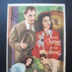 Cine: QUE NOCHE AQUELLA!, LORETTA YOUNG, CINEMA CERVANTES DE ELDA. Lote 195131626
