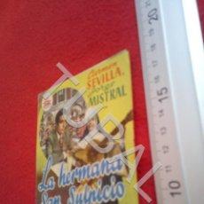 Cine: TUBAL LA HERMANA SAN SULPICIO CARMEN SEVILLA PROGRAMA DE MANO CINE NICA ARIZA B49. Lote 195135948