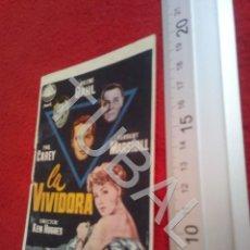 Cine: TUBAL LA VIVIDORA PROGRAMA DE MANO CINE CAPITOL B49. Lote 195136396