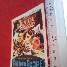 Cine: TUBAL LA TUNICA SAGRADA PROGRAMA DE MANO CINE LA CALANDRIA MASNOU B49. Lote 195136632