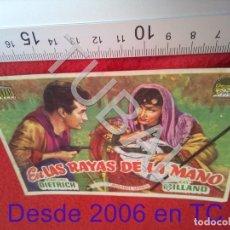 Cine: TUBAL EN LAS RAYAS DE LA MANO PROGRAMA DE MANO CINE BELLAVISTA SEVILLA B49. Lote 195136893