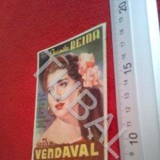 Cine: TUBAL VENDAVAL JUANITA REINA PROGRAMA DE MANO SIN PUBLICIDAD B49. Lote 195137057