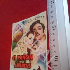 Cine: TUBAL EL PEÑON DE LAS ANIMAS JORGE NEGRETE PROGRAMA DE MANO CINE LLORENS SEVILLA B49. Lote 195137591