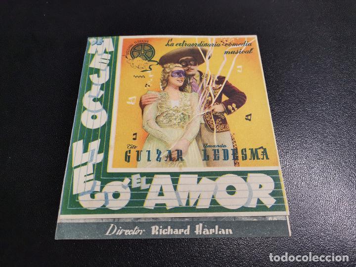 Cine: DE MEJICO LLEGO EL AMOR-CINE SARREAL TARRAGONA 1943 - Foto 2 - 195163285