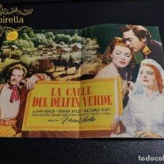 Folhetos de mão de filmes antigos de cinema: LA CALLE DEL DELFIN VERDE / PROGRAMA DOBLE DE MGM. Lote 195163445