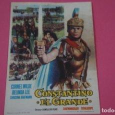 Cine: FOLLETO DE MANO PROGRAMA DE CINE CONSTANTINO EL GRANDE CON PUBLICIDAD LOTE 21 MIRAR FOTO. Lote 195173070
