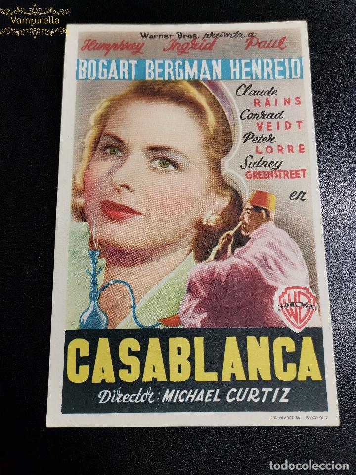 CASABLANCA SIN PUBLICIDAD (Cine - Folletos de Mano - Clásico Español)